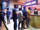 People are seen queuing for the tickets at Eldorado Cinema in Abu Dhabi.
