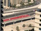 How Shaikh Zayed Road looks in red