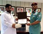 Police honour Pakistani man who caught thief