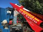 Hughes plans to launch his rocket Saturday over the ghost town of Amboy, Califoria, at a speed of roughly 500 miles-per-hour.
