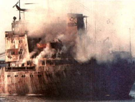 November 23, 1987: Iranian raids set two ships ablaze