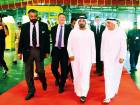 Shaikh Ahmad with Ken Allen and other dignitaries during the launch of DHL's hub expansion at Dubai Airport Terminal 2. Shaikh Ahmad had also opened the original hub 20 years ago.