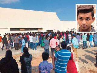 Hundreds bid farewell to teen died in flood