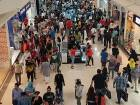 Customers shop at Deira City Centre during the 90% sale on at all Dubai malls for 3 days.