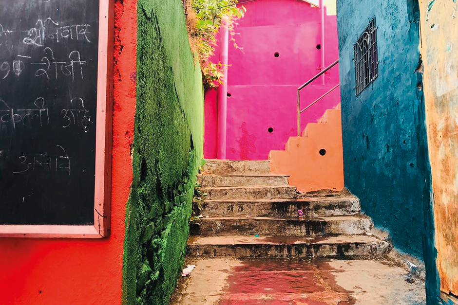 A colourful pathway in Asalpha