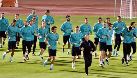 Real Madrid practice in Abu Dhabi