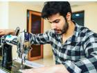Varun Dhawan on the sewing machine