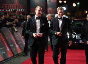 William and Harry attend Star Wars premiere