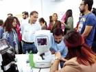 Gulf News employees undergoing check-ups during the health camp organised on the company's premises.