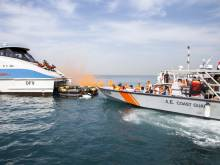 Crash, fire in ferry simulated for mock drill