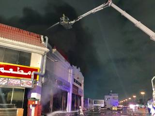 Fire hits Factory Mart in Ajman