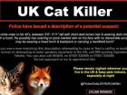 An undated handout poster released by Knights hill police in West Norwood, south London alerts the public to the description of a potential suspect in the serial cat killer case.