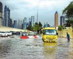 Dubai tackles flooding, traffic jams