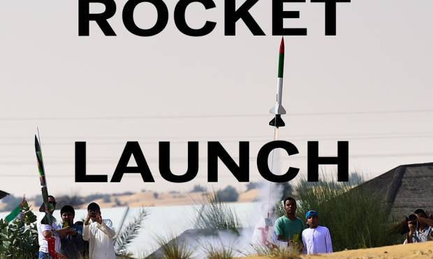 Watch: Rocket launch in Dubai
