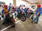 Turbaned riders make a charity stop