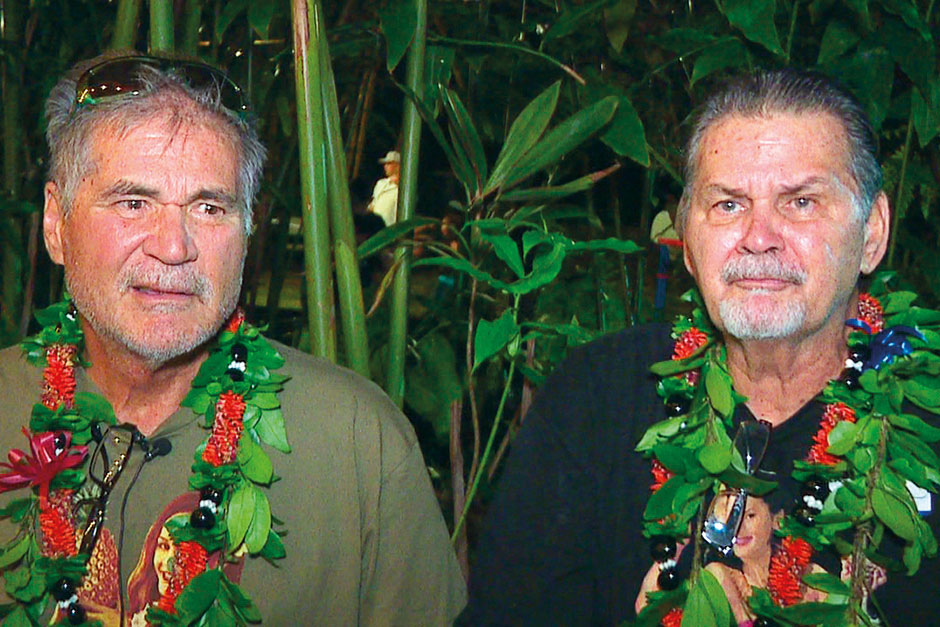 Alan Robinson and Walter Macfarlane in Honolulu