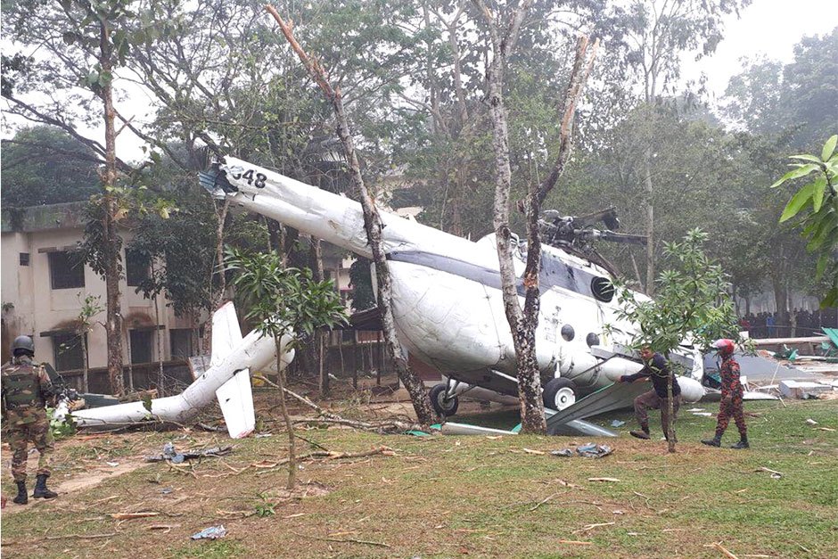 Kuwait army chief safe after helicopter crash in Bangladesh