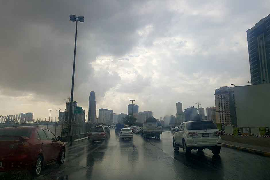 The rainfall is expected to continue until Wednesday with scattered clouds