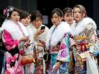 Japanese girls celebrate entry into adulthood