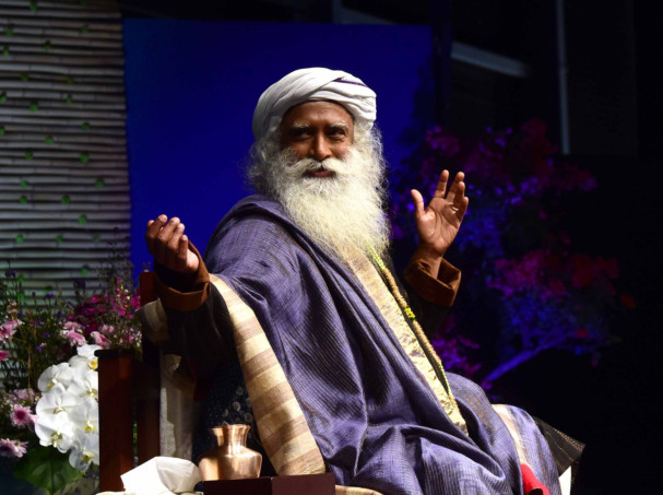 Sadhguru during the session at Festival City