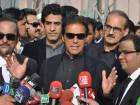In this Jan. 2, 2018 photo, Pakistan's opposition leader Imran Khan speaks to media in Islamabad, Pakistan.