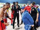 Argentine legend and Fujairah coach Diego Maradona celebrated with his players a dramatic extra-time 3-2 win over top-flight Hatta in Kalba on Monday, despite playing with just 10 men for over an hour.