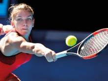 Halep holds on to oust Aiava