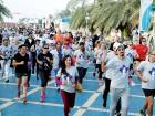 People young and old take part in the 21st Terry Fox Run at Abu Dhabi Corniche Friday morning.