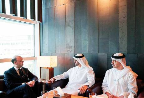 Mohammad receives Italian foreign minister