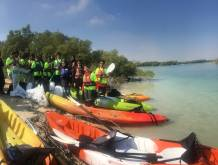 100kg of waste collected from mangroves