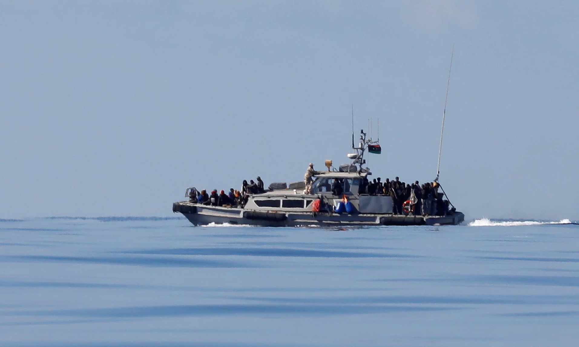 A Libyan coastguard vessel during a rescue operation last month.