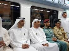 Ministers, officials ditch cars for Dubai Metro