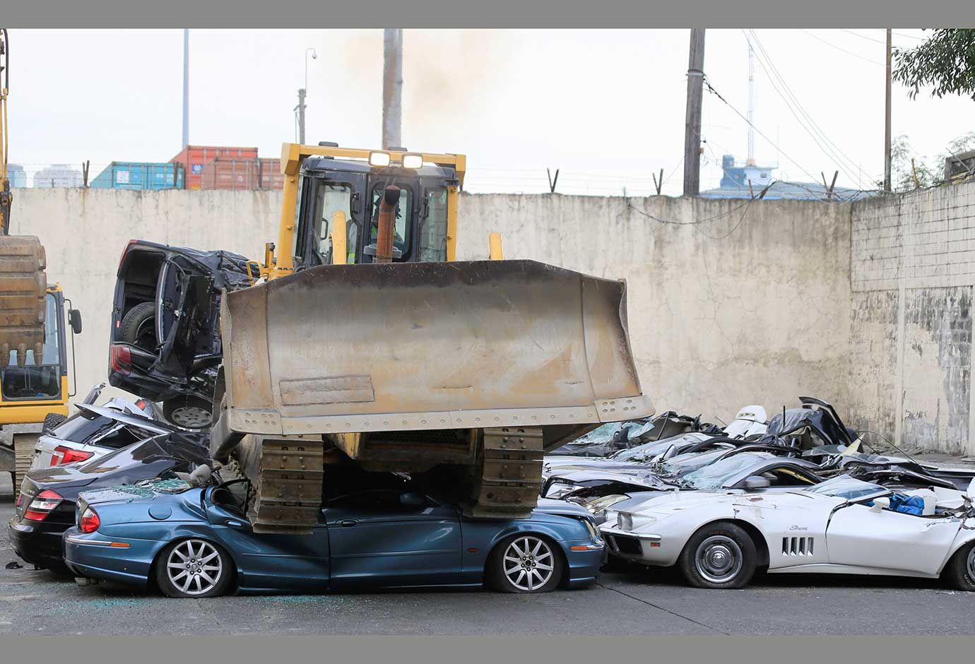 A total of 30 luxury vehicles worth a combined 61.6 million pesos ($1.2 million) were scrapped in Ma