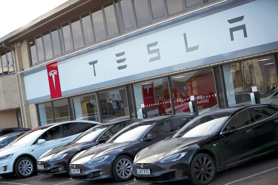 A Tesla dealership in West Drayton