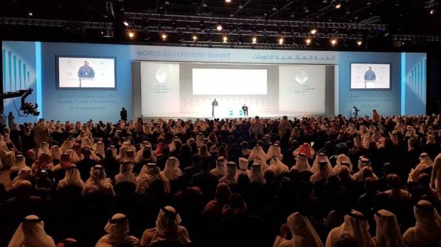 At the World Government Summit 2018 in Dubai on February 11, 2018.