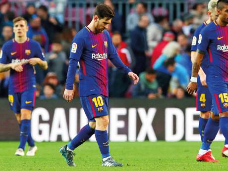 Gap closes on tired Barcelona