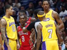 Tempers flare in Lakers loss to Pelicans