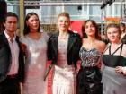 "(L-R) Australian actor Harrison Gilbertson, Australian actress Lily Sullivan, British actress Natalie Dormer, French actress Lola Bessis and Australian actress Ruby Rees poseon the red carpet ahead of the screening of the Australian series ""Picnic at Hanging Rock"" presented in the section ""Berlinale Series"" during the 68th Berlinale film festival on February 19, 2018 in Berlin."