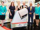 World's number-three tennis player Elina Svitolina draws the winner of Dubai Duty Free's Millennium Millionaire raffle.