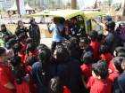 Abu Dhabi Police demonstrate the 'Patrol of Kids Fighter' to students at Abu Dhabi Corniche.