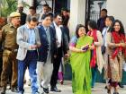 IAS Association Secretary Manisha Saxena and other officials leave after meeting Lt Governor Anil Baijal over the alleged assault on Delhi chief secretary Anshu Prakash on Tuesday.