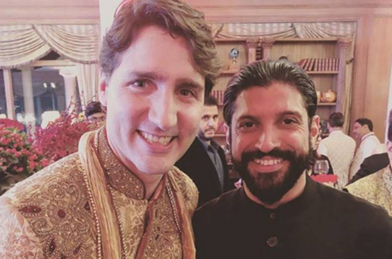 Image result for justin trudeau in bollywood