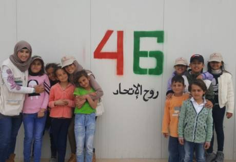 Blankets and joy for Syrian refugees