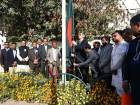 Mohammad Imran, Bangladeshi Ambassador to UAE, is seen hoisting his Country's National Flag at their Embassy premises, Abu Dhabi on Wednesday to mark the 'Martyr's Day' and 'International Mother Language Day' attended by the large number of Community and  Embassy officials.