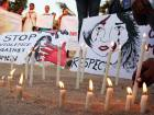 Protesters in Mumbai lit candles, during a silent protest march against the gang rape of Nirbhaya, a student, in New Delhi on December 27, 2012. The 23-year-old was gang-raped by six men on a moving bus on the night of December 16, 2012.