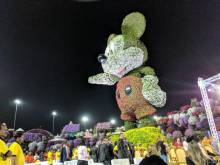 World's tallest floral Mickey Mouse in Dubai
