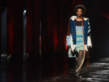 A model presents a creation by Missoni during the women's Fall/Winter  2018/2019 collection fashion show inImage Credit: AFP