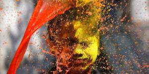How Holi was celebrated in New Delhi