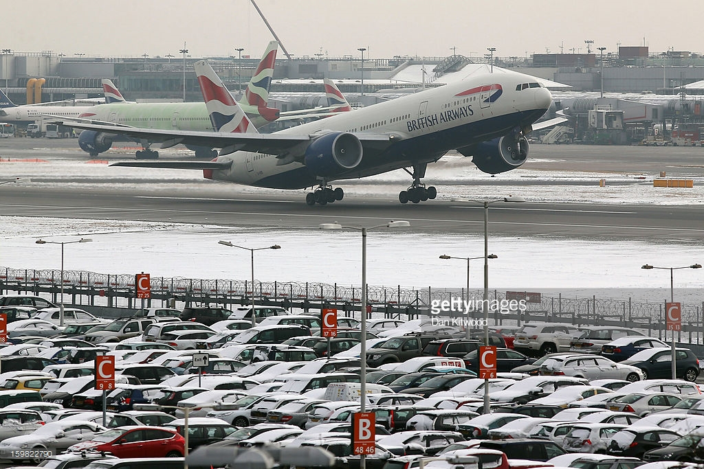 A BA flight takes off from Heathrow airport in London, England in this file photo.