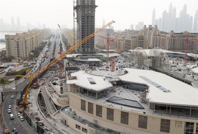 The under-construction Nakheel Mall, a Dh1.2 billion ($326-million) retail and entertainment destina